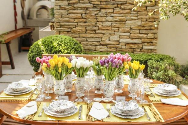 tulipas 13 Tulipas para o centro da mesa