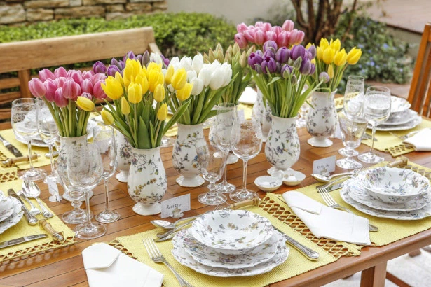 tulipas 2 Tulipas para o centro da mesa