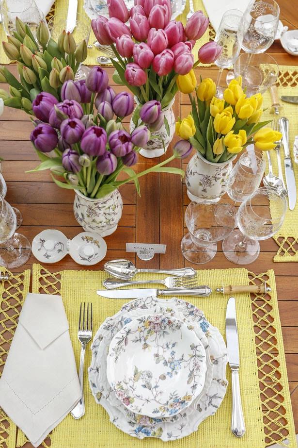 tulipas 7 Tulipas para o centro da mesa