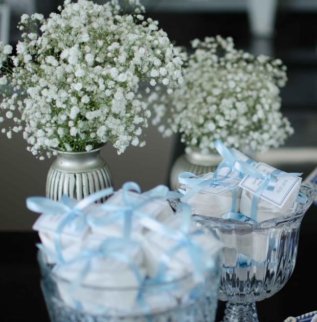 38 Decoração: azul e branco