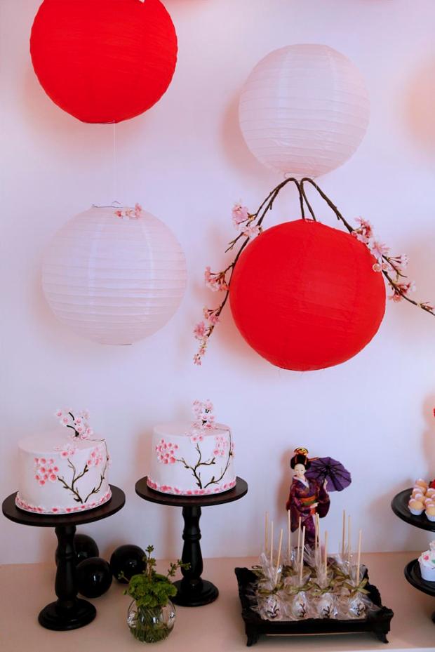 festa japonesa 2a Decoração: festa oriental