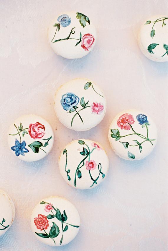 macarons floridos Macarons + Flores