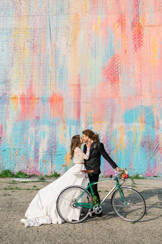 noivos com bike Quando a imagem diz muito