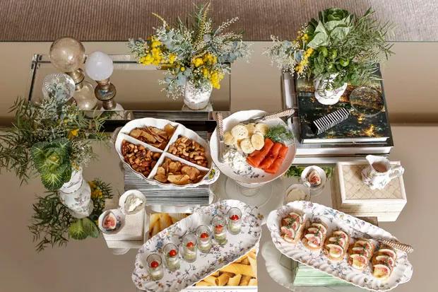 mesa de aperitivos 1 Recebendo amigos em casa