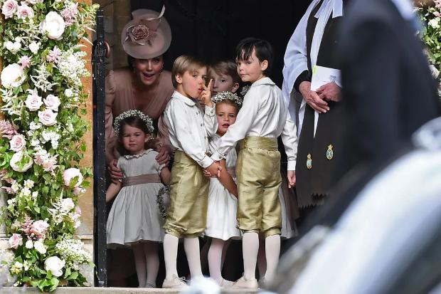 pajens e daminhas Casamento Real: pajens e daminhas